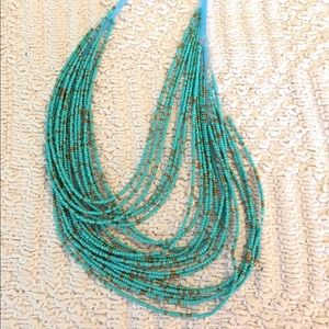 Beautiful Beaded Necklace Green
